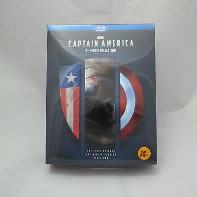 Captain America 3 Movie Collection - Blu-ray Trilogy Box Set (2017)