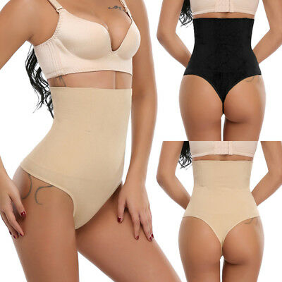 UK Seamless Thong Body Waist Trainer Shapewear Tummy Control Briefs Shaper FB