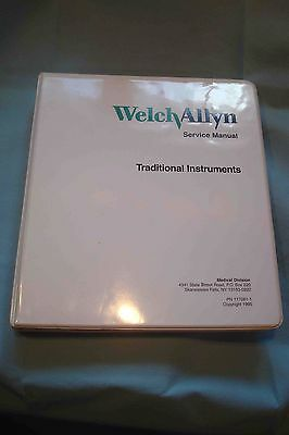 WELCH ALLYN Traditional Instruments Service Manual PN 117081-1