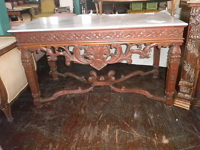 Carved Console, Breakfront, Heavily Carved Console, Sideboard, Entry Table 241A