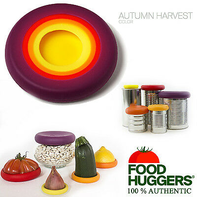 Food Huggers Flexible Silicone Reusable Fruit Vegetable x5 Storage Covers