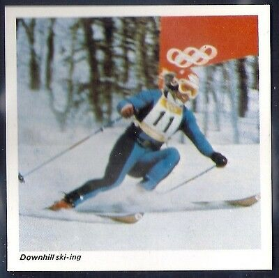 Nabisco-Action Shots Of Olympic Sports- Downhill Skiing