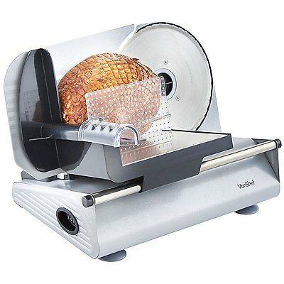 Electric Food Slicer Meat Bread Sandwich Cheese Cutter Machine Stainless Steel