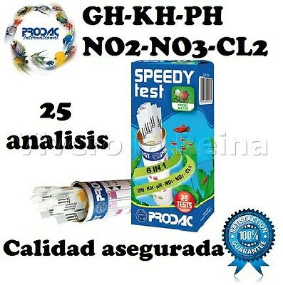 ACUARIO SPEEDY TEST PH GH KH NO2 NO3 CL2 PRODAC. envio gratis