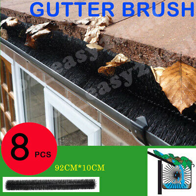 100mm X 8m Hedgehog Gutter Guard Brush Leaf Twigs AU Stock - LEAF TWIGS 8 PCS