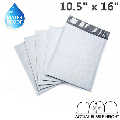 "20- 10.5x16 Poly Bubble Mailers Padded Envelope Shipping  Bags 10.5"" x 16"" PB5"