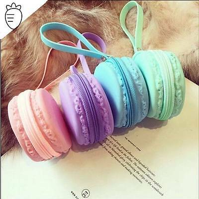 Macaroon Silicone Coin Purse U.s Seller New!