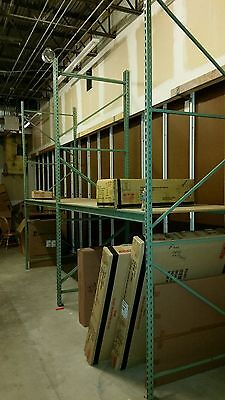 Used Pallet Rack Warehouse Shelves Seven 4' x 8' x 12' warehouse pallet racks