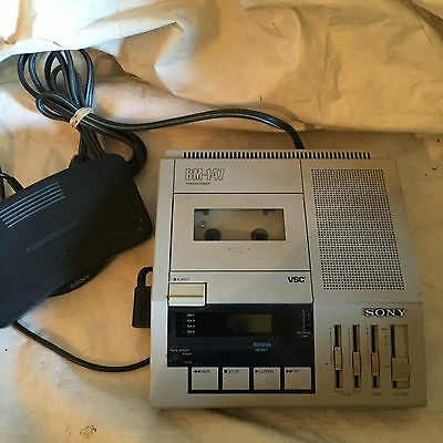 Sony BM-147 (With Foot Control) Recorder Cassette Transcriber. -(l;rtb2