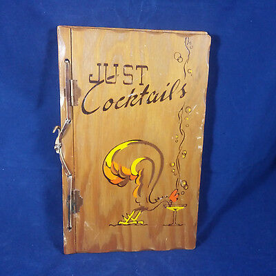 Just Cocktails 1939 W C Whitfield Tad Shell Three Mountaineers Wood Cover Rare