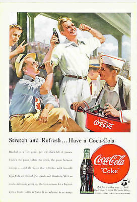 10 Different Color Coca-Cola Magazine Ads from the 1940's & 1950's. Coke