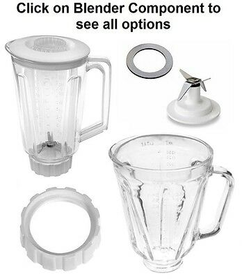 Replacement Parts,Fits Hamilton Beach Blenders,Blade,Gasket,Base,Glass Jars