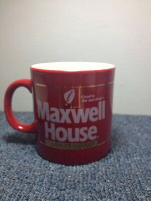 Maxwell House 1 Instant Coffee mug Vintage red ceramic cup England