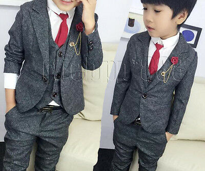 3Pcs Baby Kids Boys Suits, Formal Party Wedding Suits, Page Boy Waistcoat Suits