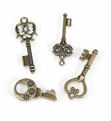 DARICE 1999-5302 Metal Charms Key, Small, Antique Brass