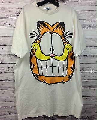 Vintage 80's FLIRTS Garfield The Cat Oversized T-Shirt  Nightshirt  One Size All