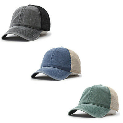 New Vintage Washed Cotton Soft Mesh Adjustable Baseball Hat