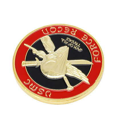 Gold Plated U.S. Marine Core Corps Challenge Commemorative Coin Collectible NEW