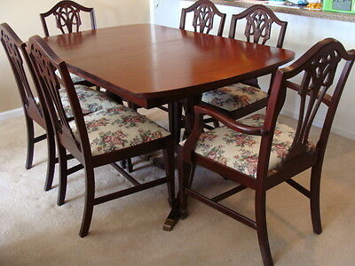 Antique Dining Room set 6 upholstered chairs local pickup Chicago IL Area