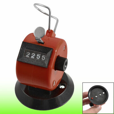 Golf Pitch 4 Digit Number Clicker Hand Held Tally Counter Black Red