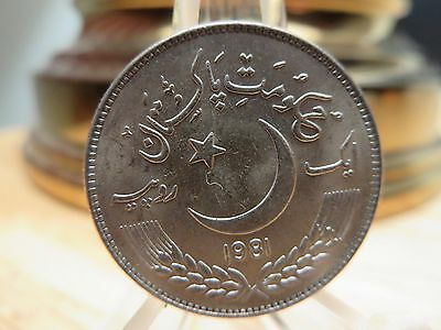 F A O Unc. 1981 Coin Pakistan 6grams World Food Day WFD Logo October 16 Lahore