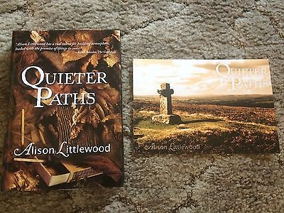 QUIETER PATHS Alison Littlewood 1st ed 200 copy HC w/ SIGNED POSTCARD UK IMPORT