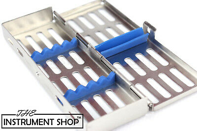 Dental Veterinary Instruments Sterilisation Cassette of 5 Body Piercing Tools