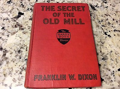Hardy Boys 1927 #3 THE SECRET OF THE OLD MILL Franklin W Dixon Red Badge Book