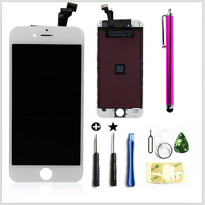"""4.7"""" White LCD Display Screen Touch Digitizer Glass Assembly For iPhone 6 6G"""