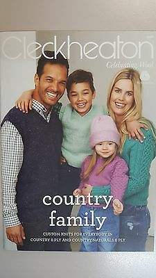 Cleckheaton Pattern Book #2002 Country Family Designs to Knit in 8 Ply Yarn