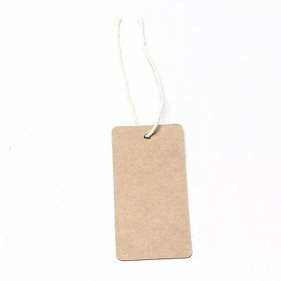EMeskymall 100pcs Kraft Paper Tag Label For Gifts Price Tags