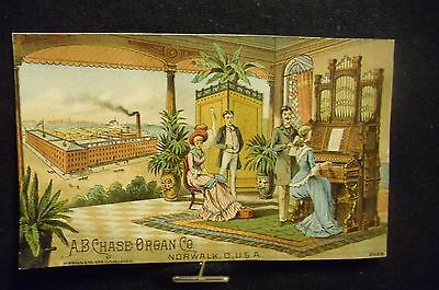 victorian trade card # 3235 - A.B. CHASE ORGAN CO.