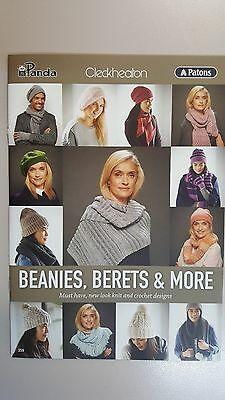 Unique Pattern Book #359 Beanies Berets & More to Knit & Crochet
