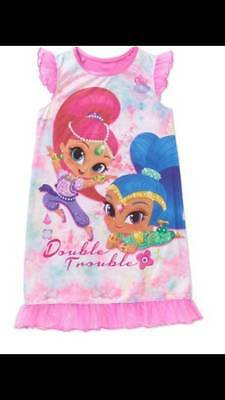 Shimmer And Shine Pajamas Nightgown Size 4/5 6/6X 7/8 10/12 New!