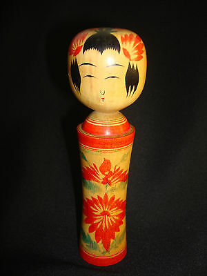Japanese. Antique Wooden Traditional Kokeshi Doll Togatta Signed