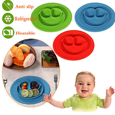 Silicone Mat Baby Kids Suction Table Food Tray Placemat Plate Bowl Dish for Baby