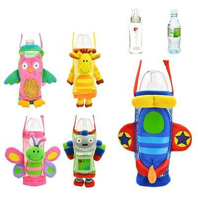 Kid Water Bottle Holder Bag with Strap Baby Kids School Cycling Trip Xmas Gift