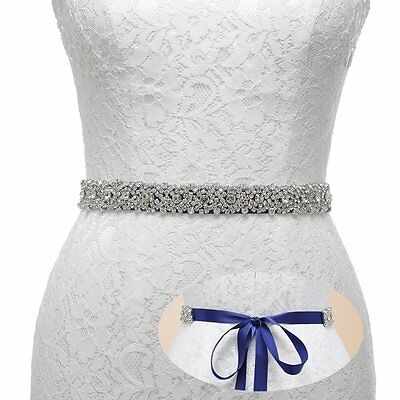 Remedios Handmade Dazzling Rhinestone Wedding Party Prom Sash Bridal Belt For
