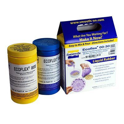 Smooth-On ECOFLEX 30 - Supersoft Platinum Silicone Kit - 2 pounds of silicone