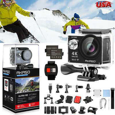 AKASO EK7000 4K Sports Action Camera WIFI Ultra HD 12MP DV Camcorder Waterproof