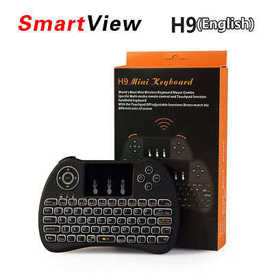H9 Backlit 2.4Ghz Wireless Keyboard Fly Air Mouse Touchpad Remote For TV Box PC