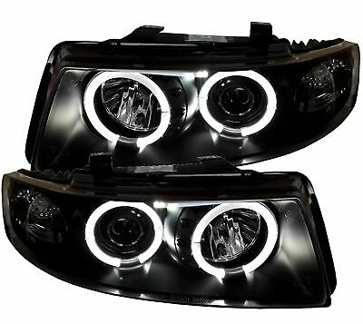 LED Angel Eyes Scheinwerfer schwarz Seat Leon 1M 99-05 Klarglas links rechts SET