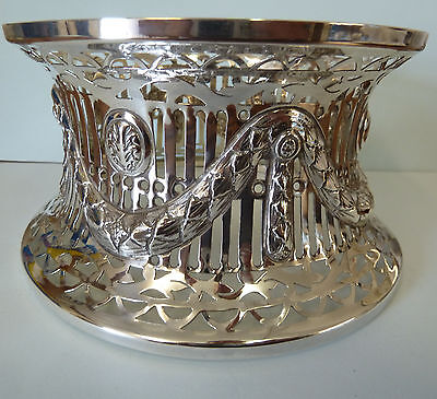 Solid SILVER PIERCED Dish Ring, Williams Ltd. Birmingham 1913. 229g