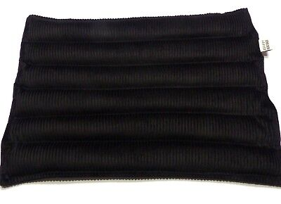Wheat or Lupin Bag Heat Pack - Large 42 x 30cm  Wave Sectioned BLACK - Free Post