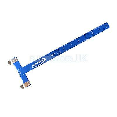 Blue T Square Archery Ruler for Compound Bow Recurve Bow Field Shooting Tool