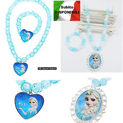 Frozen - Collana Bracciale Elsa Set Accessori - Elsa Necklace Bracelet FRNEC01 2