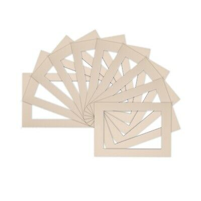 Pack of 10 Photo , Picture Mount , Frame Mounts - Various Size A4 A3 - Ivory