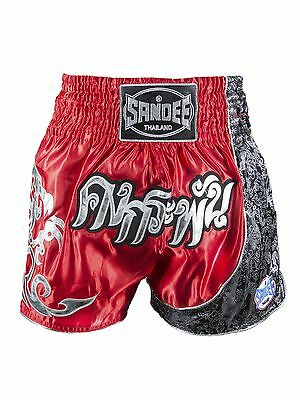 Sandee Unbreakable Thai Shorts Red Black White Muay Thai Kickboxing Striking