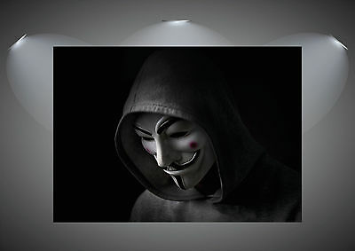 V For Vendetta Vintage Movie Art Poster Print - A0 A1 A2 A3 A4