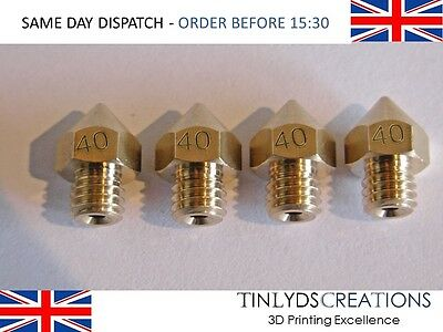 MK8 Extruder 3D Printer Nozzle 0.4mm ANET A8 (d103) 3D printer part PACK OF 4